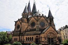 Ringkirche (Ring Church), Protestant church in Wiesbaden, Germany. The romanesque revival church was built between 1892 and 1894.