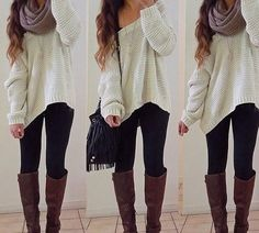 white sweater #fall outfit