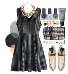 """""""Untitled #547"""" by ssm1562 ❤ liked on Polyvore featuring Topshop, Chicwish, Jimmy Choo, Karl Lagerfeld, DIANA BROUSSARD, MAKE UP FOR EVER, GUESS, women's clothing, women and female"""