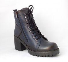 Poze Ghete Recco, captusite, culoare albastru inchis Dr. Martens, Combat Boots, Shoes, Fashion, Zapatos, Moda, Shoes Outlet, La Mode, Combat Boot