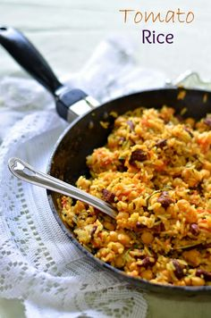 The Veggie Indian: Easy Tomato Beans Rice 1 cup full of rice ...