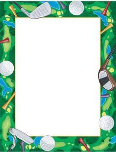 printable golf ball border use the border in microsoft word or rh pinterest com Free Golf Graphics Free Food Clip Art Borders