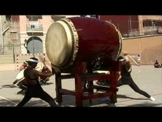 """The Power of Japanese Drums     The Japanese """"Shumei Taiko Ensemble"""" gave an outstandig live performance for schoolchildren in the center of Barcelona"""