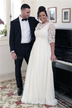 Wedding Dress Vintage Plus size wedding gowns 2016 hofit - Plus Size Brides, Plus Size Wedding Gowns, Plus Size Gowns, Dress Plus Size, Long Wedding Dresses, Boho Wedding Dress, Lace Wedding, Backless Wedding, Casual Wedding