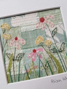 Raw edge quilting Fabric flowers are great arent they? We welcome you to th Home arent edge fabric flowers great quilting Raw textile art Freehand Machine Embroidery, Free Motion Embroidery, Embroidery Applique, Embroidery Stitches, Embroidery Ideas, Raw Edge Applique, Applique Ideas, Fabric Cards, Fabric Postcards