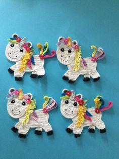 Kerri's Crochet: Unicorn applique - free crochet pattern.