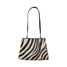 Adrienne Vittadini Stencil zebra shoulder bag | From a collection of rare vintage shoulder bags at https://www.1stdibs.com/fashion/handbags-purses-bags/shoulder-bags/