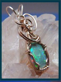 R2 exquisite OPAL PENDANT australain fire opal wearable art