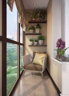 52 very small balcony design ideas for your apartment - Sylvie Turgeon-Young - Kleiner Balkon - Balcony Furniture Design Apartment Balcony Decorating, Apartment Balconies, Cozy Apartment, Apartment Design, Small Balcony Design, Small Balcony Decor, Small Terrace, Balcony Ideas, Indoor Balcony