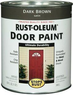 Re Pinning This Because I Used This Tutorial To Paint My Front Door And It  Came Out Great! Front Door Makeover   Really Good Tutorial | Home Ideas ...