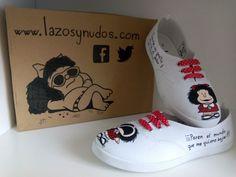 Zapatillas #Mafalda pintadas a mano