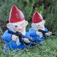 Combat garden gnomes.  These I might put in my garden!  lol