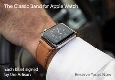 acfbe78751b Classic Leather Band for Apple Watch®