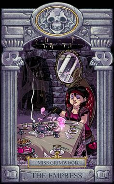 Ghoul School Tarot: Empress by on DeviantArt Halloween Art, Halloween Themes, Ghoul School, Different Drawing Styles, Scary Shows, Scooby Doo Mystery Incorporated, Character Art, Character Design, Old Cartoons
