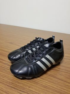 879cca637d SOLD Adidas Kids sport shoes football soccer cleats size 3 US USED (Black  and