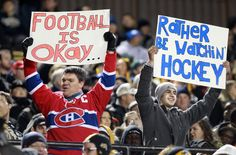 Do you think the players took it personally? Fans holds signs commenting on the NHL lockout during the B.C. Lions and Hamilton Tiger-Cats' game in Hamilton on Friday.Photo: Dave Chidley/The Canadian Press