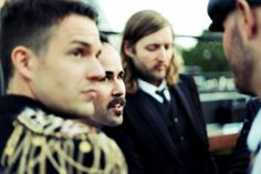 Brandon Flowers, Ronnie Vannucci Jr, and Mark Stoermer of The Killers Brandon Flowers, Heaven Sent, Beautiful Boys, Cool Bands, The Man, Love Her, Actresses, Actors, Couple Photos