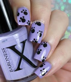 Twin Paw Print Nail Art With Courtney Of Polished Lifting