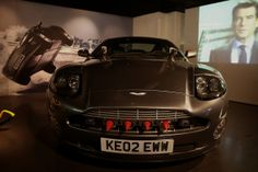 The Aston Martin V12 Vanquish driven by Pierce Brosnan as James Bond car in Die Another Day.