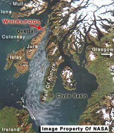 Gulf of Corryvreckan Whirlpool Photos - Picture of Tidal Flow Off West Coast of Scotland