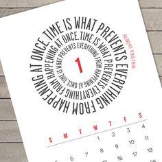 Time quotes printable calendar | Cool Mom Picks