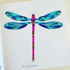 """Today is Caroline colouring a dragonfly, from the Millie Marotta animal kingdom book. #birdsofinstagram #dragonfly #friday #bird #tree #with…"""