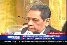 Legisladores Del PRM Y Aliados No Asistieron A La Entrega De Certificados De La JCE