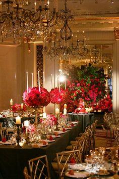 New Wedding Reception Hotel Style 70 Ideas Wedding Table Settings, Wedding Reception Decorations, Wedding Centerpieces, Mod Wedding, New York Wedding, Baroque Wedding, Party Decoration, Table Decorations, Hotel Reception