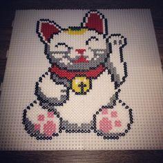 studio ghibli perler beads   Maneki-neko hama perler beads by podeprunix More