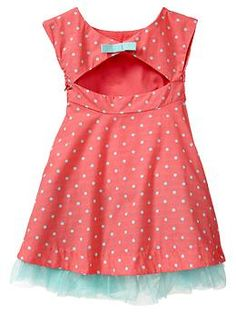 Pleated dot cutout dress | Gap  This is the back.  I would LOVE to create a pattern for this little number!