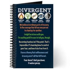Awesome Divergent notebook with quotes