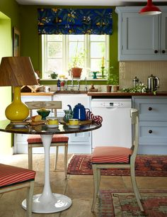 Green and light blue cottage kitchen in The Eclectic Countryside Home of Luke Edward Hall and Duncan Campbell - The Nordroom Edward Hall, Countryside, Light Blue, Cottage, Green, Kitchen Decor, Interior, Home, Inspiration