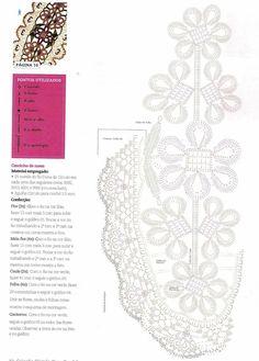 CROCHE COM RECEITAS: Caminho de Mesa Floral