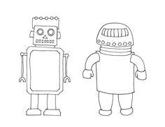 Free Printable Bender Robot Jointed Doll : Behind