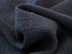 Dressmaking Fabric | Squares Knit Wool Jersey - Navy | Fabric Godmother