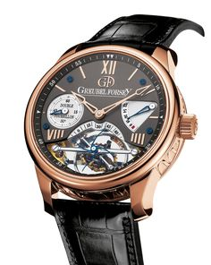 Double Tourbillon 30°   Greubel Forsey Vision GF02 5N red gold Anthracite dial Greubel Forsey's first invention is an innovative double tourbillon mechanism (DT30)