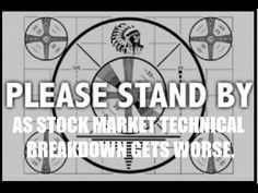 Stock Market Continues Very Dangerous Technical Breakdown. By Gregory Ma...