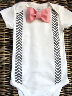 Baby Boy Clothes - Baby Boys Easter Outfit - Boy Bow Tie and Suspenders Outfit - Grey Chevron Suspenders - Pink Bow Tie - Coming Home Outfit on Etsy, Tie Onesie, Onesies, Baby Boy Leggings, Suspenders Outfit, Pink Bow Tie, Boys Bow Ties, Easter Outfit, Coming Home Outfit, Baby Boy Shower