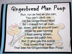 Gingerbread Man Poop Stocking Stuffer with Malted Milk by luv4sams