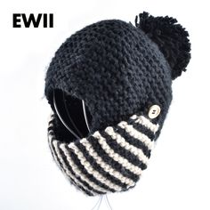 2015 Moda winter russia balaclava bomber woman hat hand-knitted caps face mask hats for woman