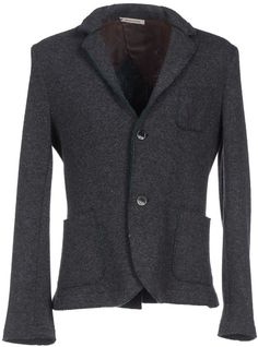 $244, Charcoal Wool Blazer: Paolo Pecora Obvious Basic By Blazers. Sold by yoox.com. Click for more info: https://lookastic.com/men/shop_items/292574/redirect