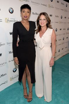 Co-Hosts Jennifer Hudson and Cathy Schulman at the #WIFOscars