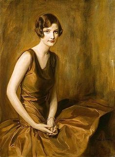 """Portrait of a Young Woman"", 1930, by Tadeusz Styka (Polish, 1889-1954) 