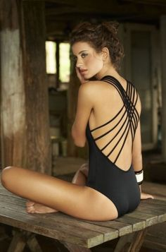 Malai Spring/Summer 2013 - I know people might hate me for saying this, but a classic yet sultry daring one piece is 1000x better than a two piece.