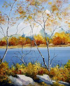 Painting by Eric Bruni (France) Art Gallery, Art Original, Art Moderne, Art Abstrait, Landscape Paintings, Landscape Art, Land Scape, Abstract Art, France