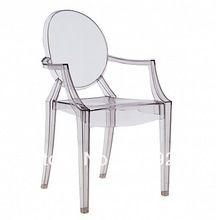 Cadeiras de jantar de plástico cadeira Louis Santo clara 2PCS cadeira de acrílico / Pacote cadeira transparente GC- 0002(China (Mainland))