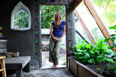 cob and salvage greenhouse by Erica Ann Bush, One Day Design