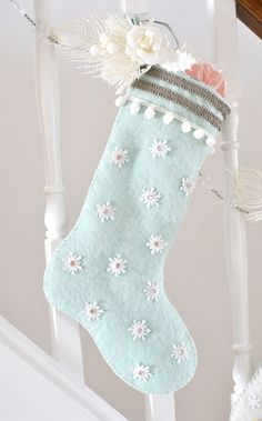 Snowflake stocking, via Flickr.