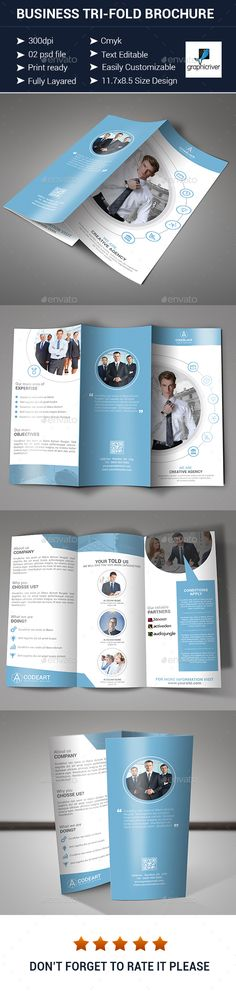 Business Tri-fold Brochure Design - Corporate Brochures