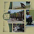 Les rues de Trinidad (Cuba) ; page double réalisée avec le gabarit Shamallow - L'atelier scrap de la lutine - Scrapbooking européen, carterie, déco